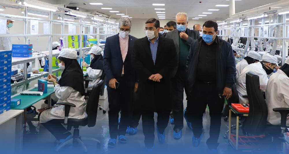 بازدید معاون وزیر صمت از کارخانه سپهبد